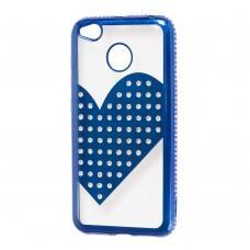 Чехол для Xiaomi Redmi 4x Kingxbar сердце синий