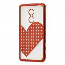 Чехол для Xiaomi Redmi Note 4x Kingxbar сердце красный