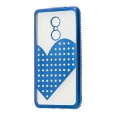 Чехол для Xiaomi Redmi Note 4x Kingxbar сердце синий