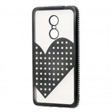 Чехол для Xiaomi Redmi Note 4x Kingxbar сердце черный