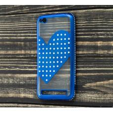 Чехол для Xiaomi Redmi 5a Kingxbar сердце синий