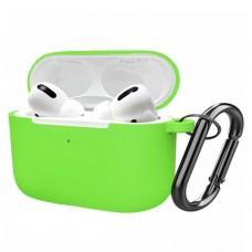 Чехол для AirPods Pro Slim + carabin green