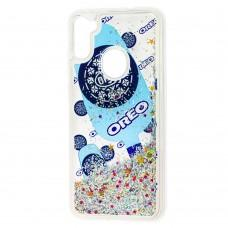 Чехол для Samsung Galaxy A11 / M11 Блестки вода new oreo