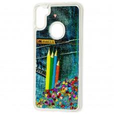 Чехол для Samsung Galaxy A11 / M11 Блестки вода new pencils