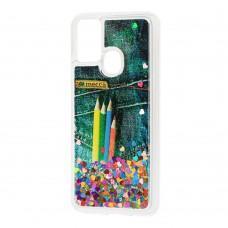 Чехол для Samsung Galaxy M31 (M315) Блестки вода new pencils