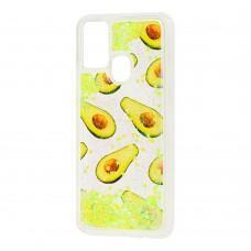 Чехол для Samsung Galaxy M31 (M315) Блестки вода new avocado