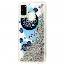 Чехол для Samsung Galaxy M21 / M30s Блестки вода new oreo