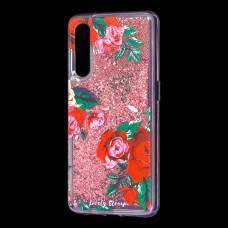 """Чехол для Xiaomi Mi 9 Блестки вода красный """"красные розы"""""""