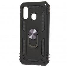Чехол для Samsung Galaxy A40 (A405) Serge Ring ударопрочный черный