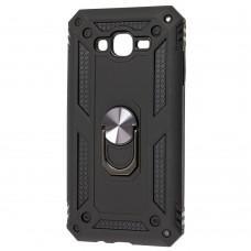 Чехол для Samsung Galaxy J7 (J700) Serge Ring ударопрочный черный