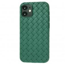 Чехол для iPhone 12 mini Weaving case зеленый