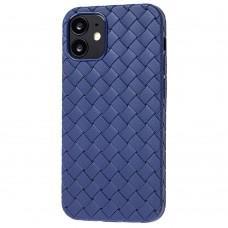 Чехол для iPhone 12 mini Weaving case синий