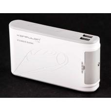 Внешний аккумулятор power bank Konfulon Harmony 2 10000mAh white / gray