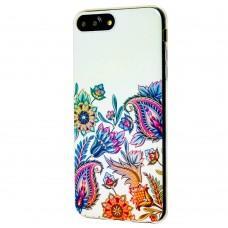 Чехол Beckberg для iPhone 6 Plus / 7 Plus / 8 Plus со стразами листья