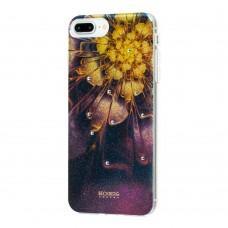 Чехол Beckberg для iPhone 6 Plus / 7 Plus / 8 Plus со стразами цветущий