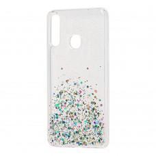 Чехол для Samsung Galaxy A20s (A207) Wave конфети прозрачный