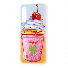 "Чехол для Xiaomi Mi A3 Pro / Mi CC9 Блестки вода ""мороженое"""