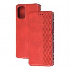 Чехол книжка для Samsung Galaxy M31s (M317) Getman Cubic красный