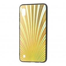 Чехол для Samsung Galaxy A10 (A105) радуга золотистый