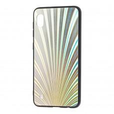 Чехол для Samsung Galaxy A10 (A105) радуга серебристый
