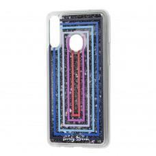 """Чехол для Samsung Galaxy A20s (A207) Блестки вода """"цветные рамки"""""""
