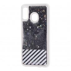 """Чехол для Samsung Galaxy A20s (A207) Блестки вода """"от белого стиля"""""""