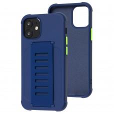 Чехол для iPhone 12 mini Bracket flap синий