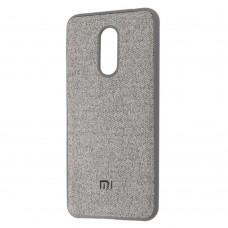 Чехол для Xiaomi Redmi 5 Textile серый