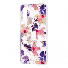 """Чехол для Xiaomi Mi 9 Flowers Confetti """"китайская фиолетовая роза"""""""