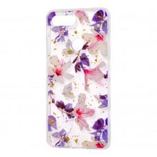 """Чехол для Xiaomi Mi 8 Lite Flowers Confetti """"китайская фиолетовая роза"""""""