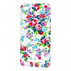 Чехол для Xiaomi Redmi 4x Star case цветы на белом
