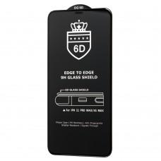Защитное стекло 6D для iPhone Xs Max / 11 Pro Max Crown (сетка) черное (OEM)
