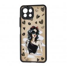 Чехол для Xiaomi Mi 11 Lite Wave Cartoon little black dress