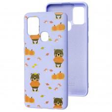 Чехол для Samsung Galaxy A21s (A217) Wave Fancy autumn bears / light purple