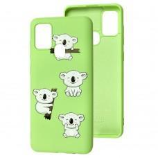 Чехол для Samsung Galaxy A21s (A217) Wave Fancy koala / mint gum