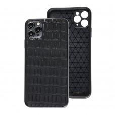 Чехол для iPhone 11 Pro Max Leather case кроко