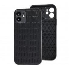Чехол для iPhone 12 Leather case кроко