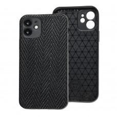 Чехол для iPhone 12 Leather case волна