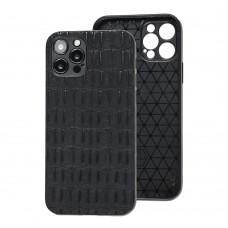 Чехол для iPhone 12 Pro Leather case кроко