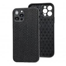 Чехол для iPhone 12 Pro Leather case волна
