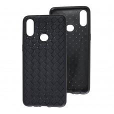 Чехол для Samsung Galaxy A10s (A107) Weaving case черный