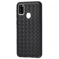 Чехол для Samsung Galaxy M21 / M30s Weaving case черный