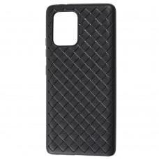 Чехол для Samsung Galaxy S10 Lite (G770) Weaving case черный