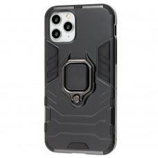 Чехол для iPhone 11 Pro Transformer Ring ударопрочный с кольцом черный