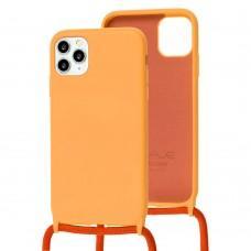 Чехол для iPhone 11 Pro Max Wave Lanyard without logo orange