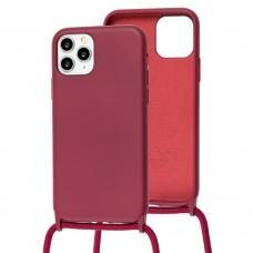 Чехол для iPhone 11 Pro Wave Lanyard without logo rose red