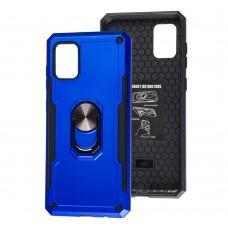 Чехол для Samsung Galaxy A31 (A315) SG Ring с кольцом синий