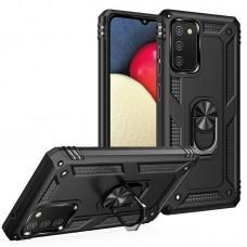 Чехол для Samsung Galaxy A02s (A025) / M02s (M025) Serge Ring ударопрочный черный