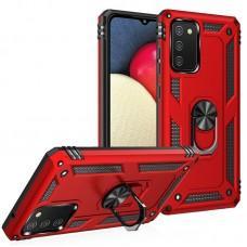 Чехол для Samsung Galaxy A02s (A025) / M02s (M025) Serge Ring ударопрочный красный