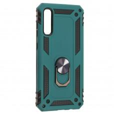 Чехол для Samsung Galaxy A70 (A705) Serge Ring ударопрочный зеленый